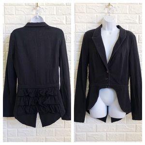 Betsey Johnson ruffle tail coat jacket steampunk